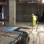 laying floor screed over Underfloor heating