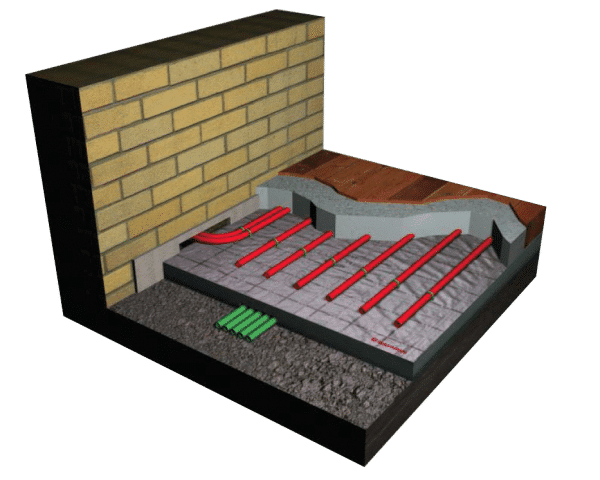 Underfloor Heating Cross Section