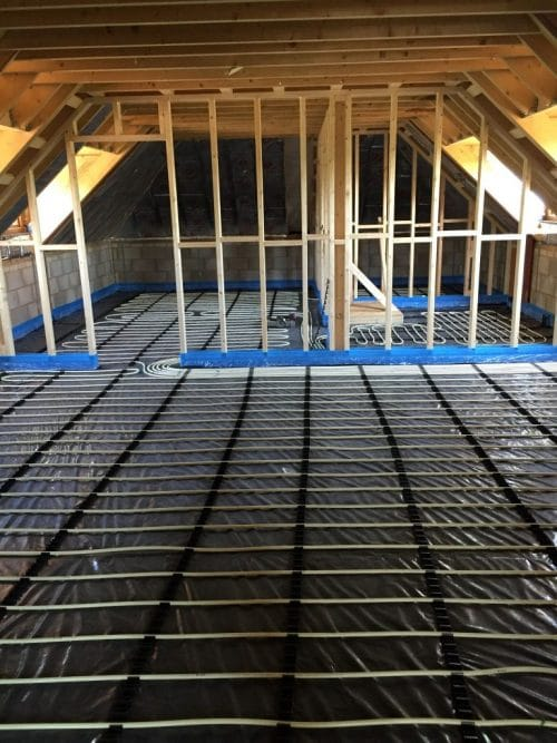 Underfloor Heating Pipes Laid