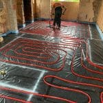 Laying Under Floor Heating Pipes