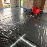 Before Under Floor Heating Pipes are Laid