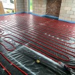 Fully Laid Under Floor Heating Pipes